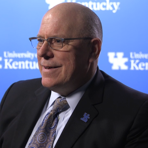 This is a photo of UK Provost David Blackwell.