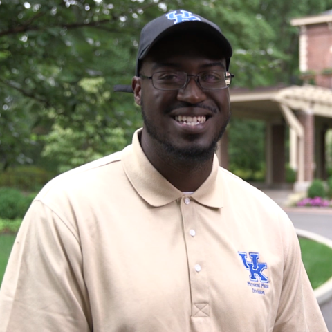 Photo of Stephan Smith, a member of the UK Grounds Crew