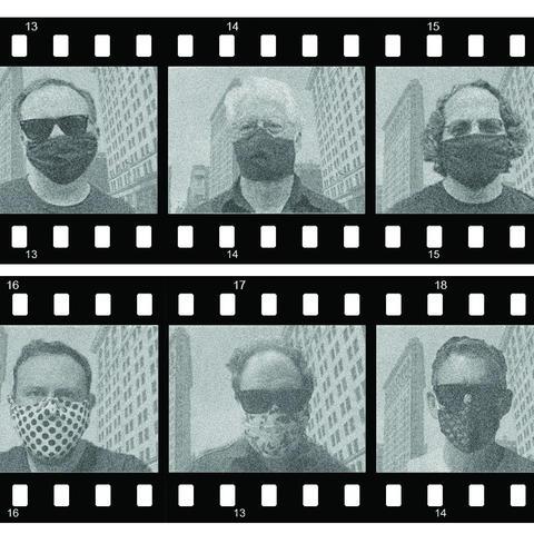 photo of individual members of Archipelago in camera film setup