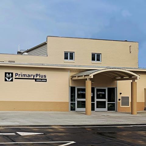 photo of the exterior of PrimaryPlus-Ashland clinic