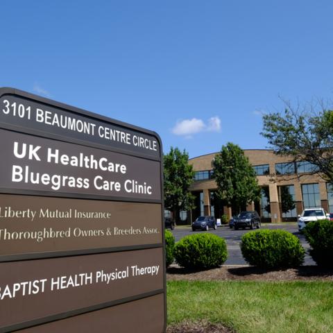 Bluegrass Care Clinic sign