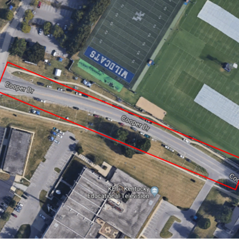 New bicycle lane to be put in on a section of Cooper Drive.