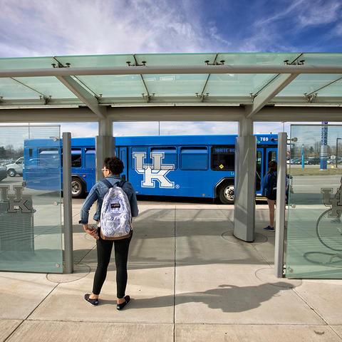 photo of campus bus