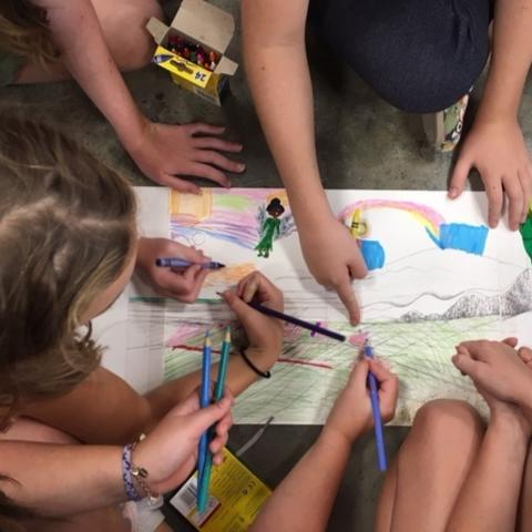 Contributions to the project will allow organizers to purchase copies of a unique children's picture+coloring book that provides students with two books in one.
