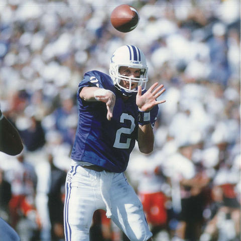 photo of UK football quarterback Tim Couch throwing football