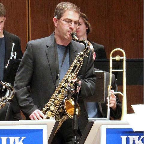 photo of Dieter Rice and UK Jazz Ensemble