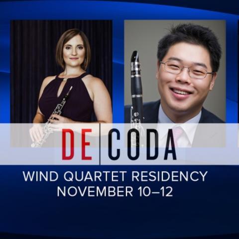 photo of slide featuring 4 headshots of members of Decoda