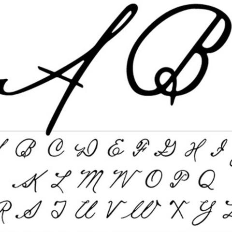 photo of detail image of capital letters in Fayette typeface by Mia Cinelli