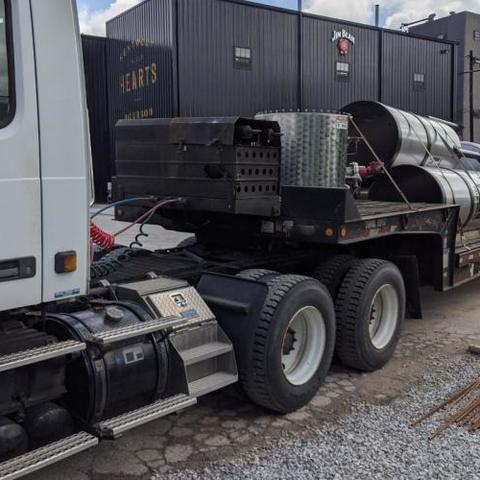 Equipment on truck