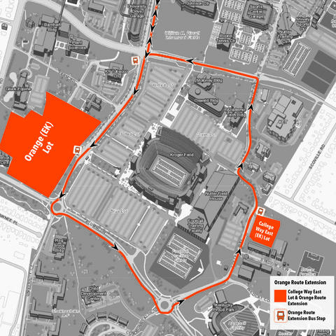 Orange Lot contingency plan map