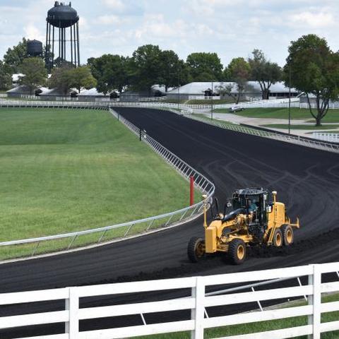 the practice racetrack at Keeneland