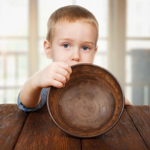 photo of hungry child