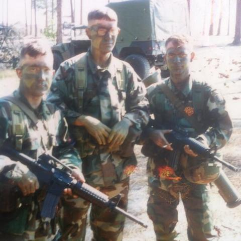 Growing up hating math, Jonathan Thomas (middle) enlisted with the 82nd Airborne Division as an infantry paratrooper.