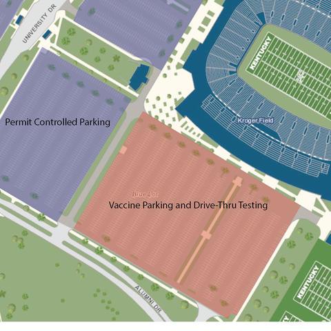 Map of parking & transit update.