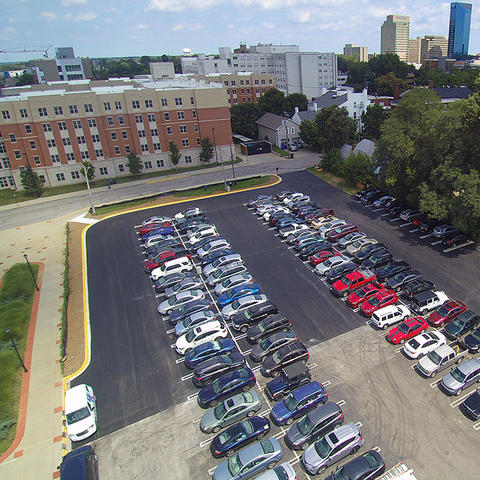 photo of parking behind Joe Craft Center