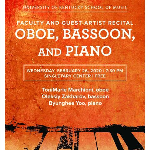 photo of poster for faculty and guest artist recital for oboe, bassoon and piano