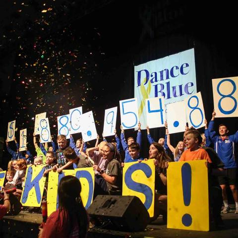 DanceBlue dancers and patients on stage
