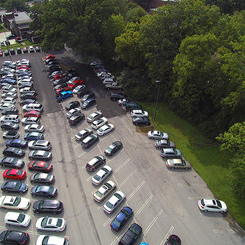 photo of Scott Street parking lot
