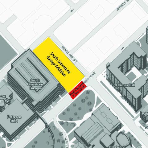 South Limestone lane closure map
