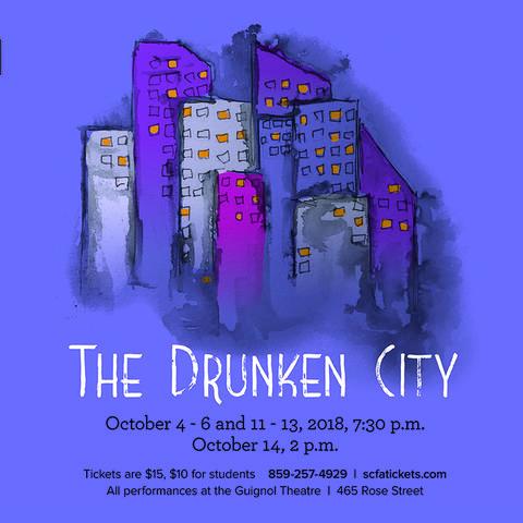 """photo of web banner for """"The Drunken City"""""""