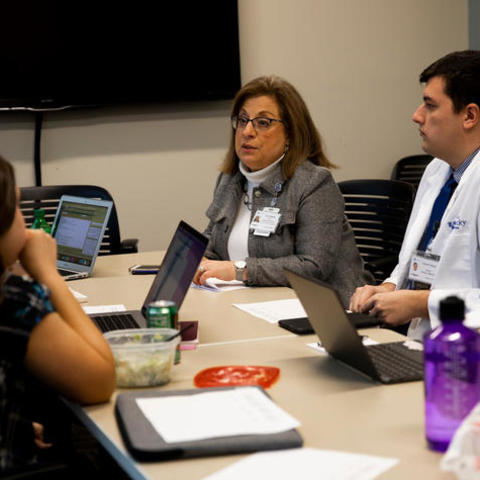 Family and Community Medicine's Dr. Husteddem leads discussion