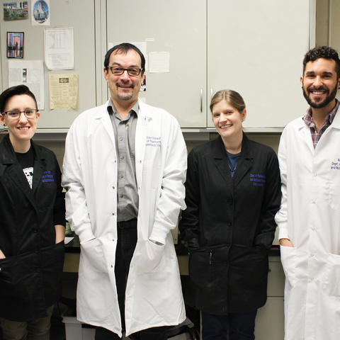 Photo of Olivier Thibault's lab staff