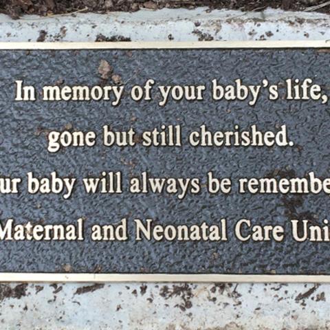 photo of memorial plaque