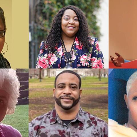 UNITE community panelists: (Top, left to right) Olga McKissic, Shameka Parrish-Wright, Donovan Taylor; (Bottom, left to right) Rosa Martin, Stephen Overstreet, Tiffany Clark.