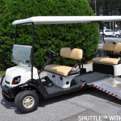 photo of a wheelchair accessible golf cart
