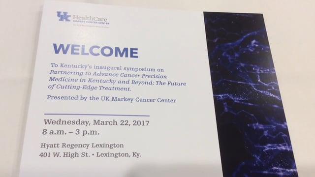 Thumbnail of video for Markey Hosts Inaugural Precision Medicine Symposium for Regional Healthcare Providers